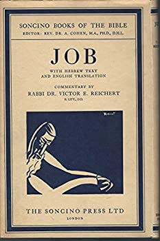 Hardcover Job, with Hebrew Text and English Translation [Soncino Books of the Bible] Book