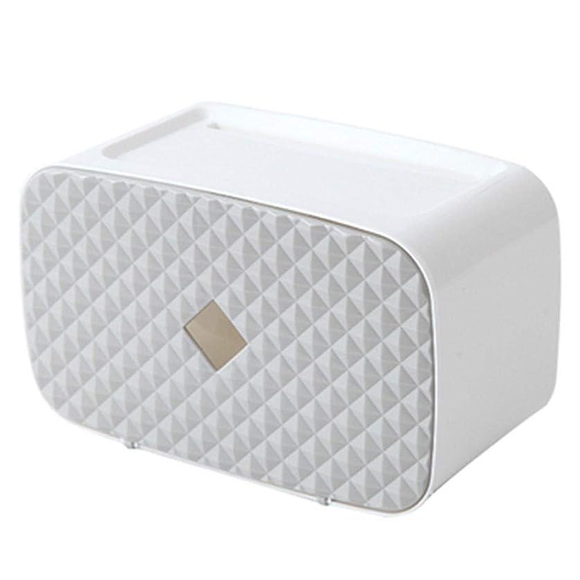 土曜日子供達早いティッシュボックスティッシュボックスハンカチボックス現代パンチフリー浴室ティッシュボックス家庭用トイレットペーパー棚ロール紙管ティッシュボックスホルダー (Color : Gray, Size : 24.6*12.2*15cm)