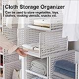 Caja de almacenamiento Ropa plegable Caja de almacenamiento Bastidores Apilamiento Cajones Cestas Contenedores Divisor para dormitorio Cocina (#1)