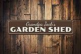 qidushop Cartel de jardín Personalizable con Nombre de Jardinero para decoración de Pared para el hogar, Patio, Flores, Verduras, jardín, de Aluminio