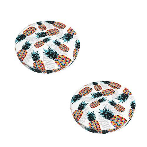 MTJJ Runde Barhocker-Bezüge, 2 Stück, super weicher Samt, rutschfest, gepolsterte Bezüge für Holz- und Metallhocker, Tiere