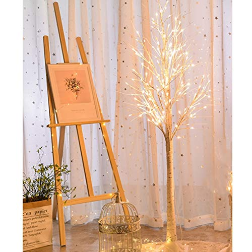 Warm White Light Plastic Sequins Twig Branch Birch Trees Lights USB Powered for Home Party Holiday Decoration(180cm)