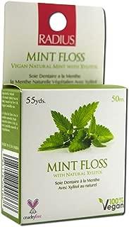 RADIUS, Vegan Xylitol Mint Floss, 55 yds (50 m) - 2pc