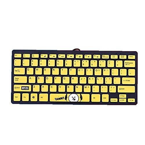 shengo Kpop BTS Kabelgebundene Business Tastatur für Windows, Linux und Chrome, USB-Anschluss, QWERTY Layout, Spritzwassergeschützt, PC/Laptop, BTS Geschenk für Army (Chimmy)