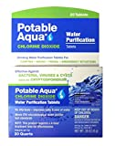 Potable Aqua Chlorine Dioxide Water Purification Tablets - 20 Ea water purification tablets Mar, 2021