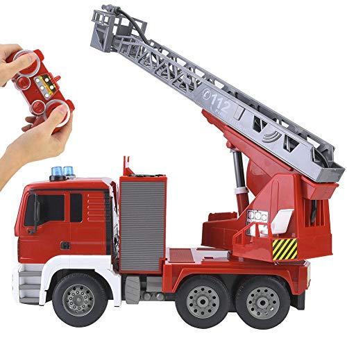 Zerodis Fernbedienung Feuerwehrauto Rettungswagen Spielzeug 1/20 Skala 2,4 ghz USB Lade Konstruktionstechnik Fahrzeuge Figuren mit Sound und Licht für Kinder Geschenk