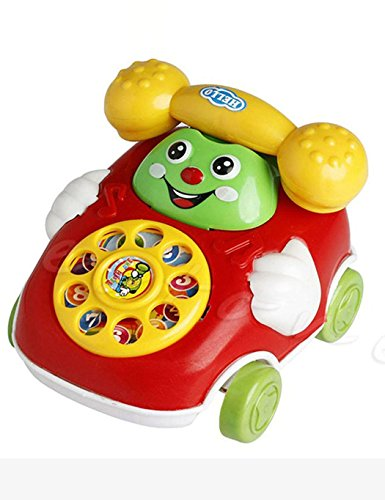 Best Review Of Lanbter Baby Toys Cartoon Car Phone Kids Educational Developmenta Push & Pull Toys