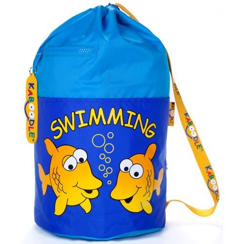 Kaboodle Childrens Fish Swim & Sports Bag - Aqua & Royal Blue