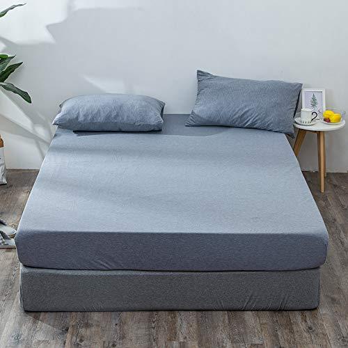 Haiba - Coprimaterasso extra profondo in cotone, misura superking, in cotone di qualità hotel, extra comfort e protezione, blu, 180 x 200 + 25 cm