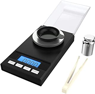 Homgeek Digital Milligram Pocket Scale Mini Jewelry Gold Powder Weigh Scales with..