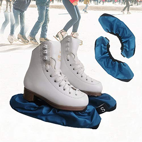 Skate Guards Blade Covers - Ice Skating Soakers Cover Blades Protector for Hockey, Figure, Short Track Speed Skating, Curling Competition, 2 Pcs, L-Audlt