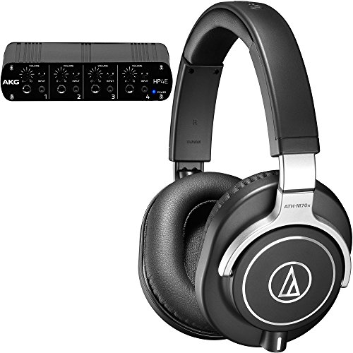 Audio-Technica ATH-M70x Professional Monitor Headphones with 4-Channel Headphone Amplifier