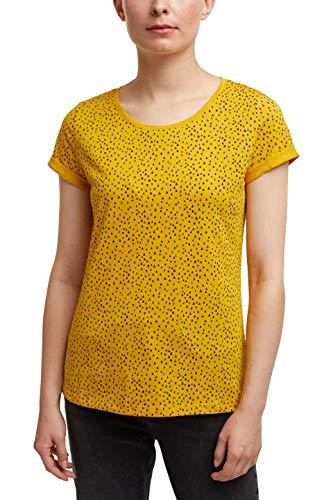 edc by ESPRIT Damen 999CC1K817 T-Shirt, 720/BRASS Yellow, XL