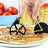 2 Piezas Acero Inoxidable Pizza Biciclet Cortador de Pizza de Bicicleta Ruedas para Cortar Pizza con Revestimiento Antiadherente en Acero Inoxidable Divertida DecoracióN de Regalo de Pizza Familiar