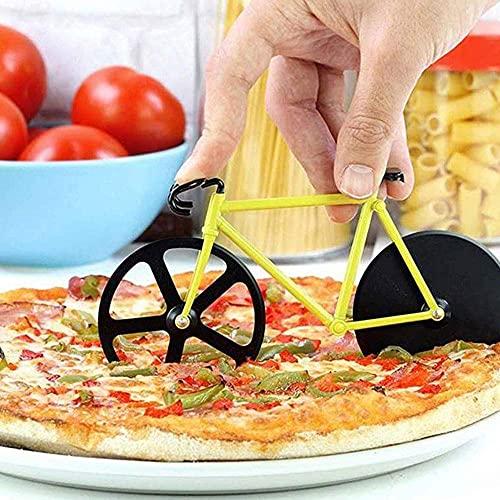 2 Piezas Acero Inoxidable Pizza Biciclet Cortador de Pizza de Bicicleta Ruedas...