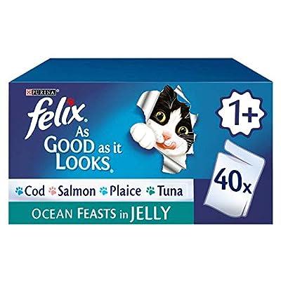 Felix As Good As It Looks Adult Cat Food Ocean Feasts in Jelly, 40 x 100 g