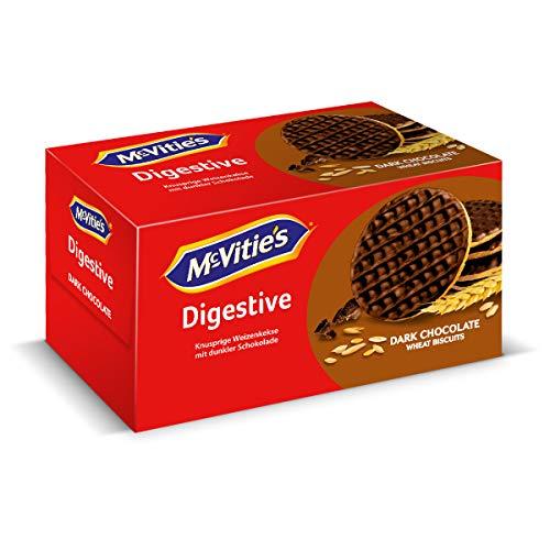 McVitie's Digestive Original Dark Chocolate 1 x 200 g – knusprige Kekse mit Schokoladenüberzug – Bisquits nach traditioneller Rezeptur – dunkle Schokolade