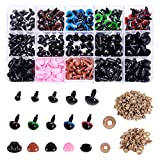 Plastic Safety Eyes and Noses with Washers 570 Pcs, Craft Doll Eyes and Teddy Bear Nose for Amigurumi, Crafts, Crochet Toy and Stuffed Animals (Assorted Sizes)