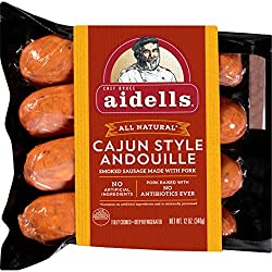 Aidells Smoked Pork Sausage, Cajun Style Andouille, 12 oz. (4 Fully Cooked Links)