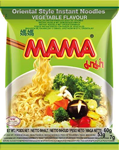 MAMA Instantnudeln Gemüse – Instantnudelsuppe orientalischer Art – Authentisch thailändisch kochen – 24 x 60 g