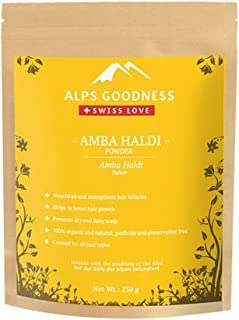 Alps Goodness Amba Haldi Powder (250 g) - Hair Pack Powder for Hair Growth and Strong Scalp - 100% Pure & Natural