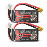 GOLDBAT 6S 22.2 V 100C 1300 mAh Lipo Battery with XT60 Connector for FPV Racing RC Multi-Motor UAV Drones Road Bike Quadcopters Airplane Boat RC Car Hobby DIY