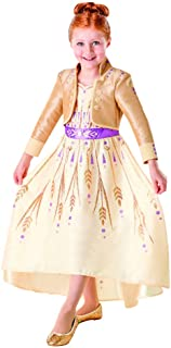 Rubie's Official Disney Frozen 2, Anna Deluxe Prologue Dress, Childs Costume, Size Age 9-10