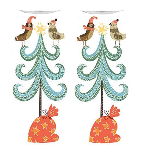 Felicove Unisex Weihnachtssocken Christmas Socks Weihnachtsmotiv Weihnachten Festlicher Baumwolle Socken Mix Design für Damen und Herren