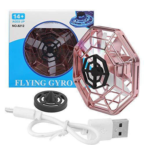 Mini dron UFO para niños, rotación de 360 °, bola voladora, juguete RC, recargable, infrarrojos, con luces LED de colores, juguete fácil de usar