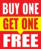 Buy One Get One Free Store Business Retail Sale Display Signs 18x24 Full Color 5 Pack [並行輸入品]