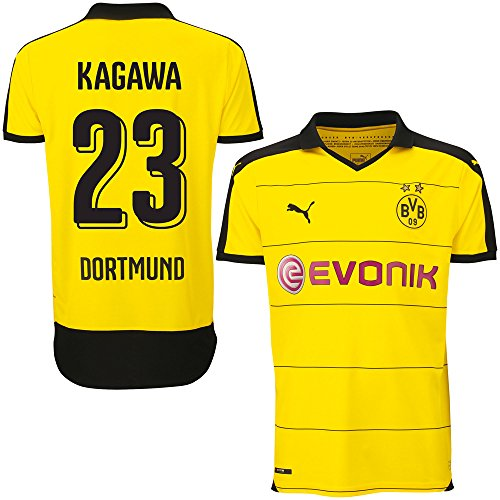 Borussia Dortmund Home Trikot 2015 2016 + Kagawa 23 (Fan Style) - XL