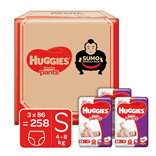 Huggies Wonder Pants Diapers Sumo Pack, Small 258 Count