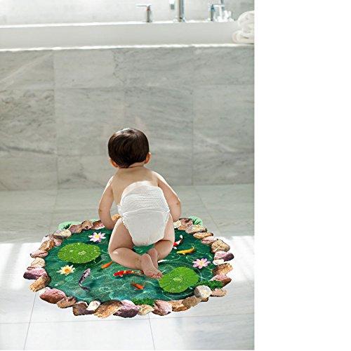 Badkamer keuken geheim liggend tegel 3D stereoscopische vijver Lotus kan Pvc zelfklevende groothandel muursticker verwijderen