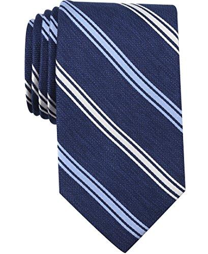 Nautica (NAV5C) Corbata de rayas para hombre, Azul Pizarra, Talla única