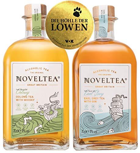 Noveltea: Alkoholischer Tee - 2er Set - The Tale of Oolong & Earl Grey - 2 x 700ml - Die Höhle der Löwen - Gin/Whisky - 11% Vol.