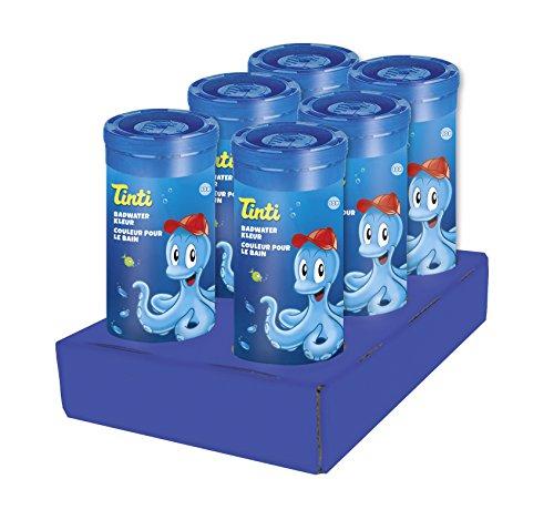 Tinti Couleur pour le Bain Bleu - 60 Pastilles / 6 Tubes