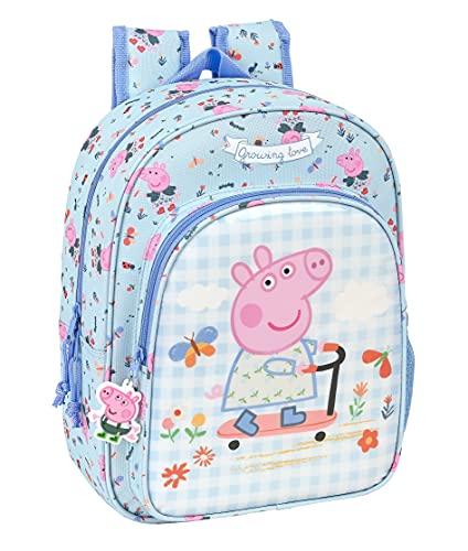 safta Mochila Escolar Infantil Animada de Peppa Pig Urban Farmer, 260x110x340 mm