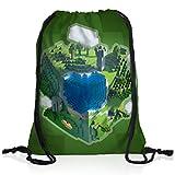 A.N.T. Mine Globe Sac à Dos Cordon gymsac Drawstring Bag Block dé...