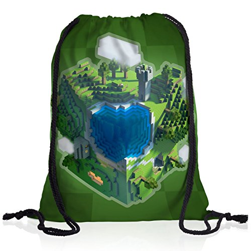 A.N.T. Mine Globe Borsa da spalla sacco sacchetto drawstring bag gymsac bloc dado cubo videogioco game