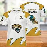 NFL T-Shirts Super Bowl Jacksonville Jaguars Jersey Football Américain Hommes Polo Chemises pour Hommes Et Femmes-T-Shirt Supporters-Football Fans Rugby Football Unisexe-Cadeaux Ados 4XL