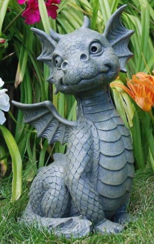 Figur de jardin dragon assis