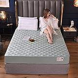 Sábanas ajustablesperfecto para el colchón, sensación suave,Sábanas ajustables acolchadas de algodón, almohadillas de...