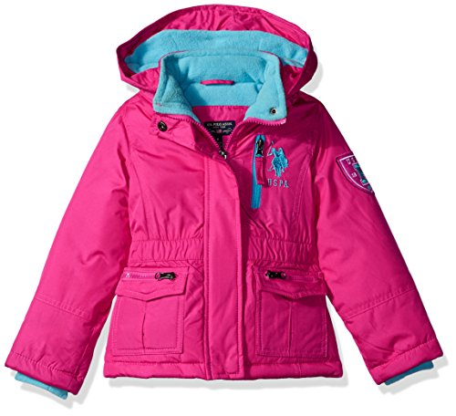 US Polo Association Big Girls' Outerwear Jacket (More Styles Available), Parka-UA88-Fuchsia, 7/8