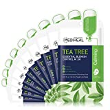 MEDIHEAL Official [Korea's No 1 Sheet Mask] - Tea Tree Essential Blemish Control Mask - Skin Soothing & Sebum Control Mask Pack for Sensitive Oily Skin(10 Masks)