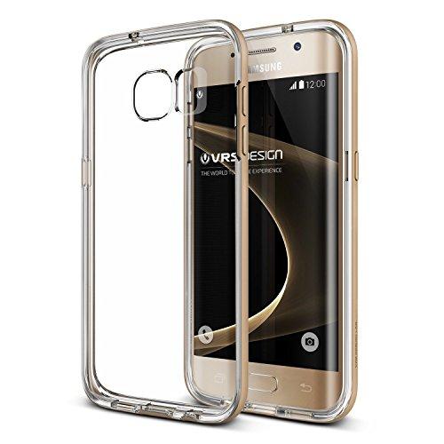 URCOVER Custodia Protettiva Verus Case Crystal per Samsung Galaxy S7 Edge | Back Cover Doppia Trasparente | Scocca Rigido Bumper Anti-Shock Ultra-Slim in Oro
