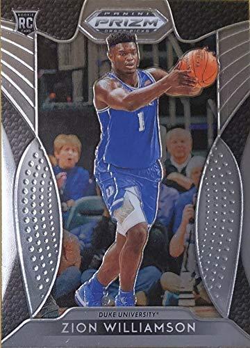 2019-20 Panini Prizm Collegiate Draft Picks - Zion Williamson - Duke University/New Orleans Pelicans Drat Pick NBA Basketball Rookie Card - RC Card #64