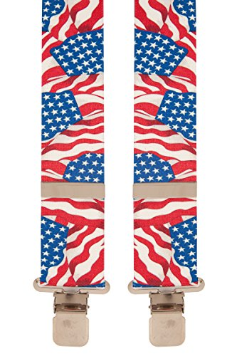 Brimarc Tools & Machinery Mens Novelty Braces (USA Waving Flag)