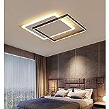 20インチ現代のシンプルなledシーリングライトラウンドアクリル寝室備品シックなスタイルリングデザイン天井シャンデリア用リビングルームキッチン照明,Panasonicの天井ソケットは使用できません Warmlight square