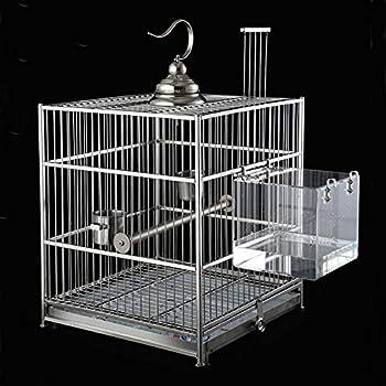 DEDC Baignoire d'Oiseau, Transparent Cube Oiseau Baignoire Boîte de Bain Douche Cage pour Petit Oiseau Perroquet Myna Moineaux
