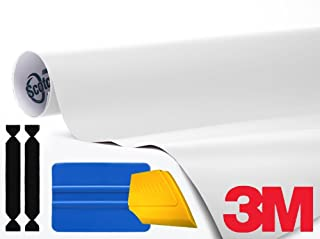 3M 1080 Matte White Air-Release Vinyl Wrap Roll Including Toolkit (6ft x 5ft)